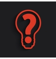 question mark bulb vector image