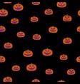 jack-o-lantern seamless pattern vector image