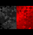 red black low poly triangles mosaic background vector image