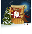 Christmas background with Santa Claus vector image vector image
