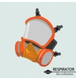 Respiratory protection for the tract Fire vector image