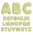 Alphabet cartoon letters font sweet donut style vector image
