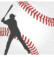 baseball player silhouette on the abstract vector image