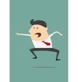 Excited cartoon businessman vector image
