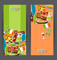 italy banners design italian sticker symbols and vector image