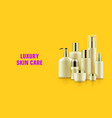quality cosmetic bottle poster vector image