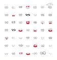 Set of Emotions cartoon vector image