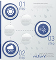 Template weather infographic with icon and steps vector image