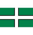 Flag of Devon vector image