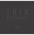 thin alphabet uppercase vector image vector image