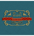 Happy holidays text greeting card vector image vector image