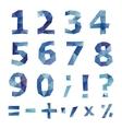 Polygonal number set vector image
