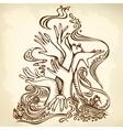 hand tree brown vector image vector image