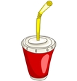 cartoon home kitchen cup vector image vector image
