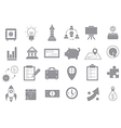Business gray strategy icons set vector image vector image