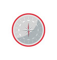 compass rose icon in flat style vector image