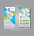 flyer and leaflet vector image