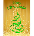 green christmas card vector illustration vector image