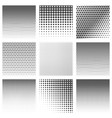 halftone dots pattern set vector image