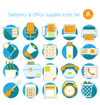 Office Supplies and Stationery Icons Set vector image