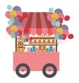 toys cart icon vector image