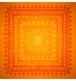 Square orient ornament background vector image