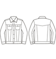 Jeans jacket vector image