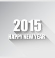 modern simple happy new year card 2015 vector image