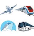 Transportation Model Airplane Cruise Ship Train vector image