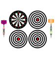Professional darts vector image