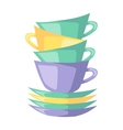 Red cup coffee tea or drink cafe morning beverage vector image