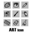 art icon supplies vector image