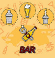 bar flat concept icons vector image