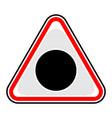 black hole sign triangular sticker vector image
