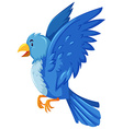 Blue bird spreading its wings vector image