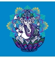 Ganesha With Ornate Mandala vector image