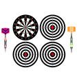 Professional darts vector image