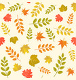 seamless pattern in autumn theme vector image