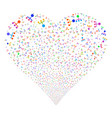 hierarchy fireworks heart vector image