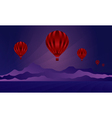 Air balloon in the evening sky vector image vector image