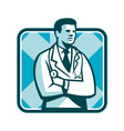 Medical Doctor Physician Stethoscope Standing vector image