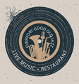 banner for restaurant with live music vector image vector image