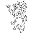 heraldic dragon No9 vector image