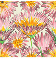 Retro floral seamless pattern watercolor pink vector image vector image