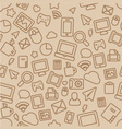 Seamless Pattern with Outline Office Icons vector image vector image