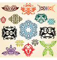 ornaments set vector image vector image