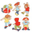cartoon small children vector image vector image