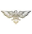 Eagle mascot spread wings vector image