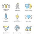 business corporate management employee - 4 vector image