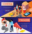 cinema premiere banners set vector image